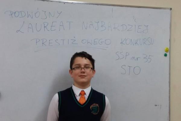 Piotr Kubalski podwójnym laureatem konkursu z matematyki